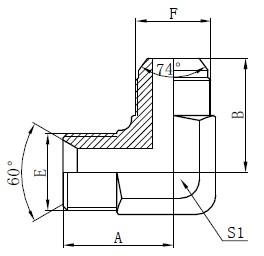 Menggambar Adaptor Hidraulik BSP