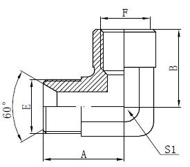Gambar Fiting Adaptor BSP Siku