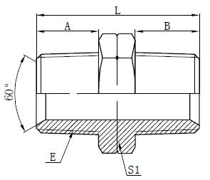 Gambar Hidraulik NPT Pria Adaptor