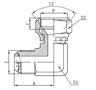 Menggambar Konektor Flat JIC